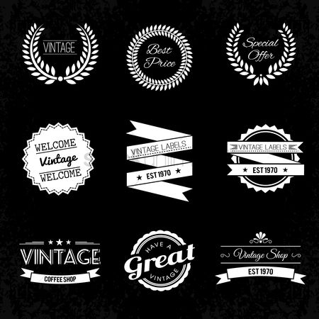 Retro : A collection of vintage labels