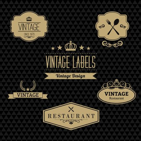 Logo : A collection of vintage labels