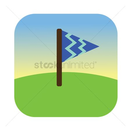 Zig zag : A flag on a field