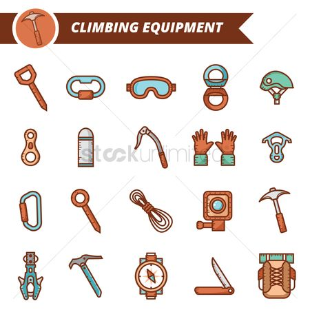 Hiking : A set of climbing equipments