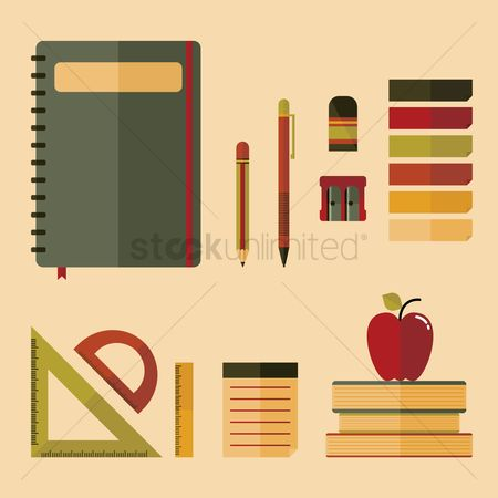 Stationary : A set of educational icons