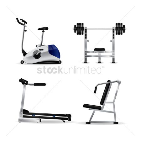 Dumb bell : A set of gym equipment