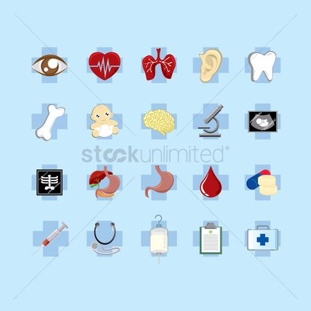 Hospital : A set of medical icons