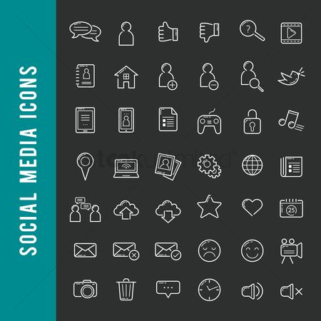Icons news : A set of social media icons