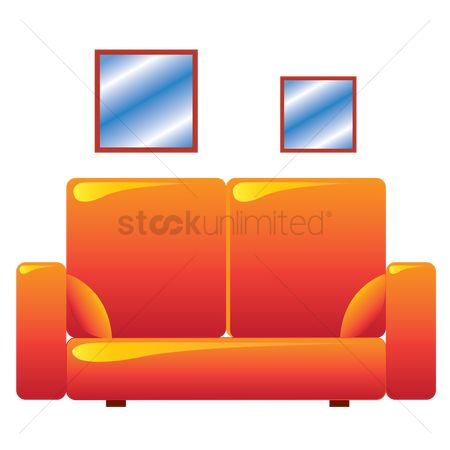Interior : A two seater sofa