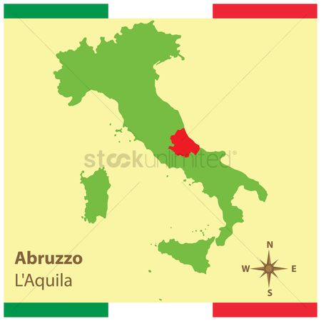 Highlights : Abruzzo on italy map