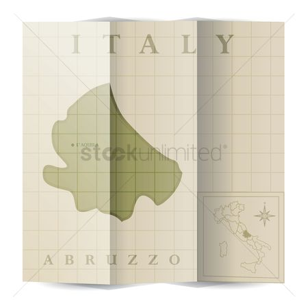 Highlights : Abruzzo paper map