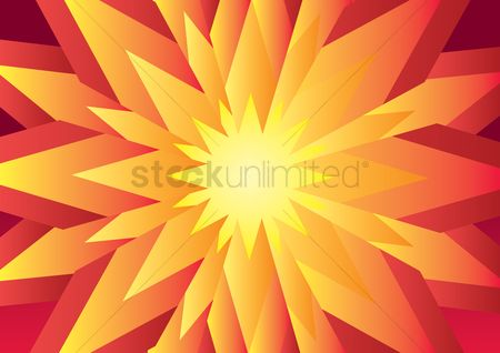 Budding : Abstract 3d flower background