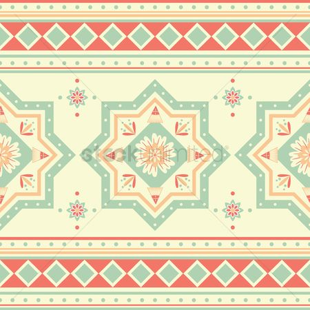 Geometrics : Abstract ethnic background