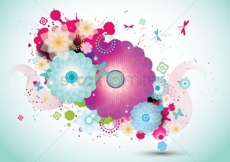 Decors : Abstract floral background