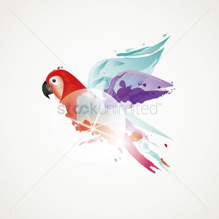 Birds : Abstract parrot