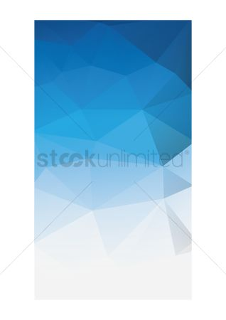 Faceted : Abstract polygonal background