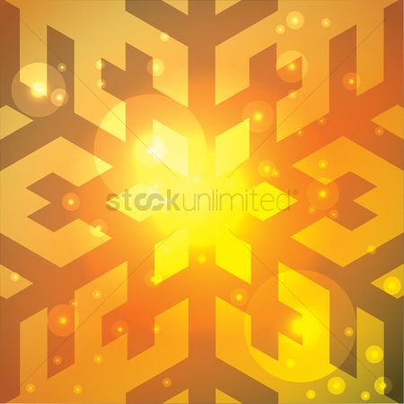 Illumination : Abstract snowflake background