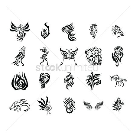 Hawks : Abstract tattoo design
