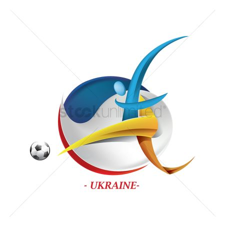 Ukraine : Abstract ukraine football player
