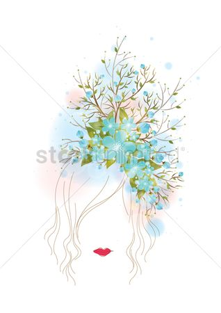 Fashions : Abstract woman artwork