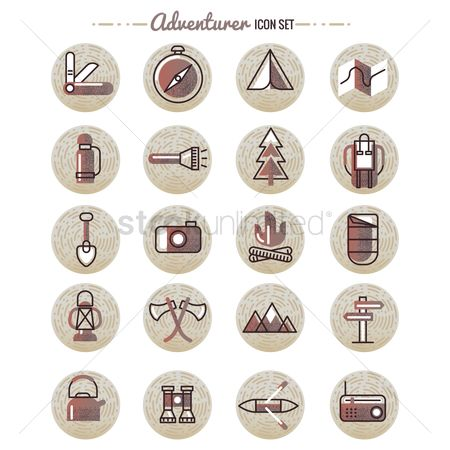 Paddle : Adventurer icon set