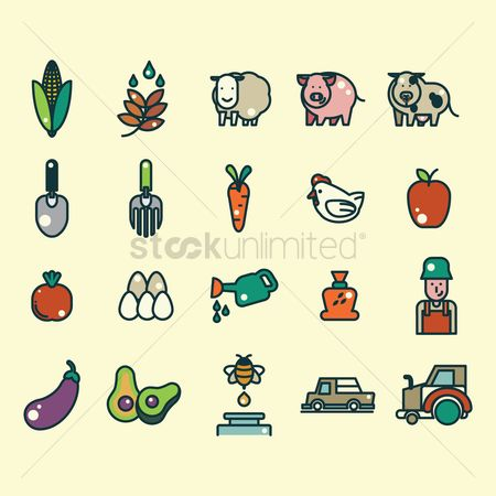 Apple : Agricultural icons