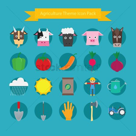 Cow : Agriculture theme icon pack