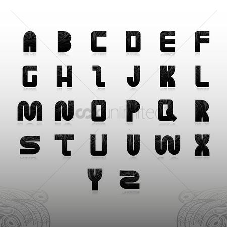 Fonts : Alphabet set in decorative style
