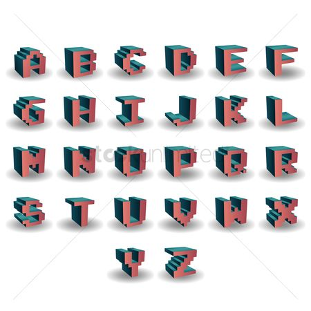 Dimensional : Alphabet set