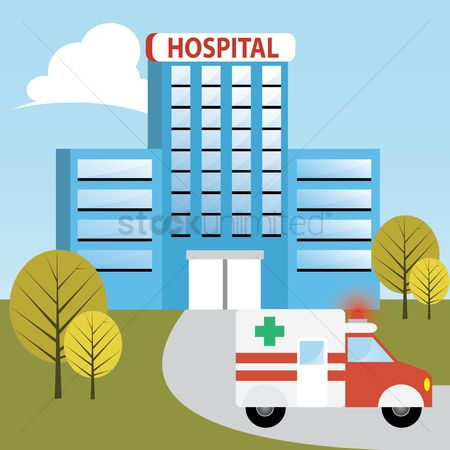 Hospital : Ambulance at hospital