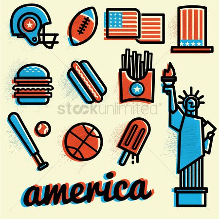 Baseball : America icon set