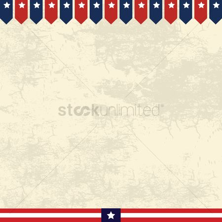 Patriotic : American border design