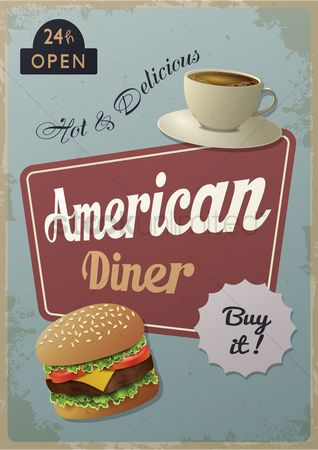 Old fashioned : American diner poster