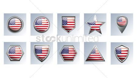 Navigators : American flag badges
