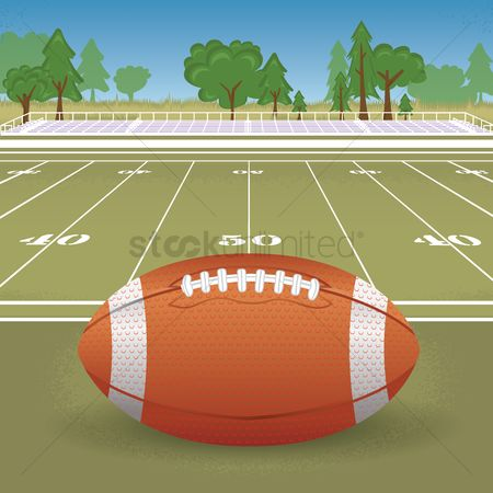 Footballs : American football and field