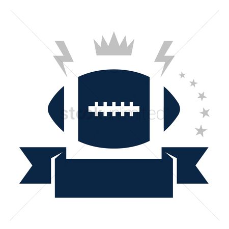 Footballs : American football badge