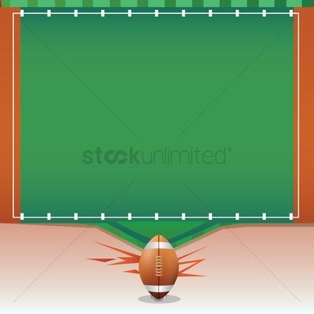 Rugby ball : American football template
