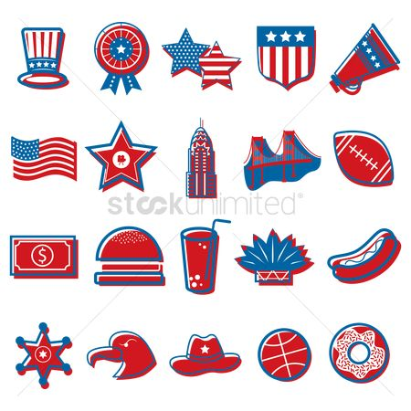 Headdress : American independence day icons