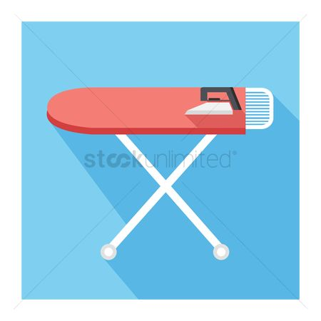 Chores : An ironing board and iron