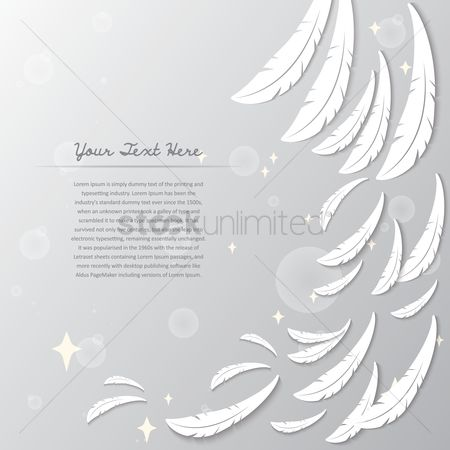 Feather : Angel wings background
