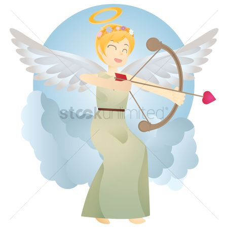 Halo : Angel with bow and arrow