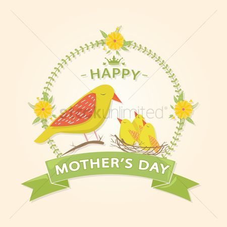 Mothers day : Animal theme mothers day card