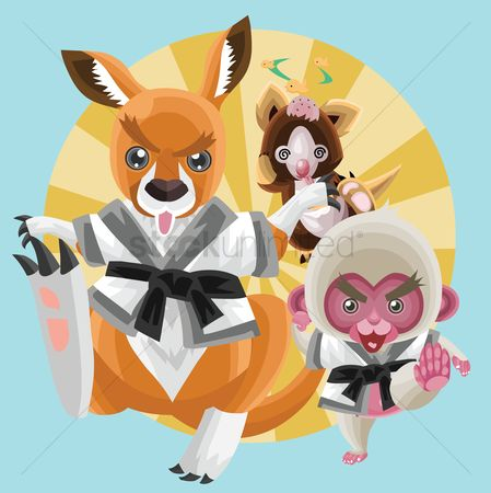 Claws : Animals in karate outfit