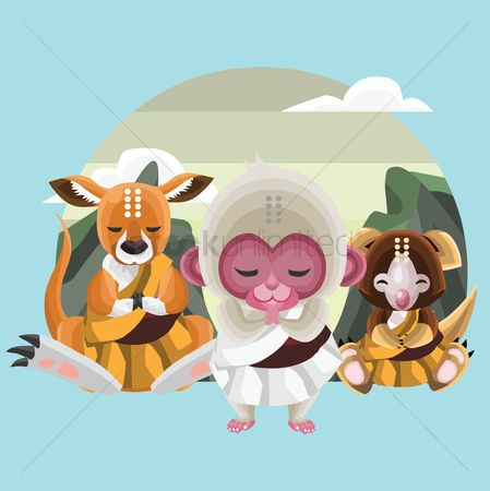 Zen : Animals in monk avatar
