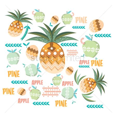 Pineapple : Apple and pineapple design