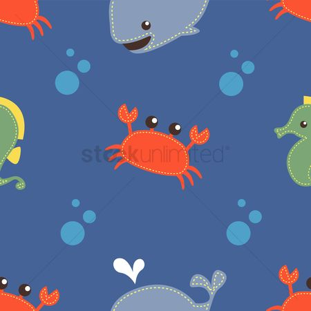 Crabs : Aquatic animal background