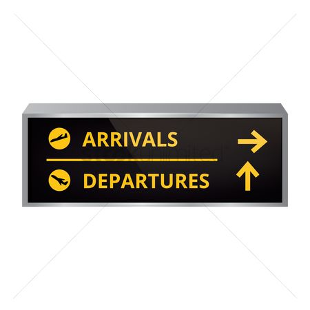 Airway : Arrival and departure signboard