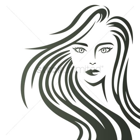 Posing : Artistic design of woman with flowing hair
