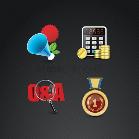 Medal : Assorted icons