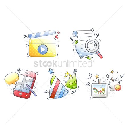 Mobiles : Assorted icons