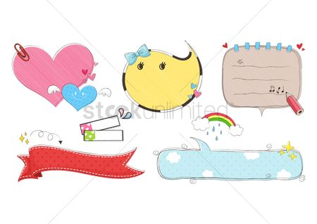 Starfishes : Assorted speech bubbles