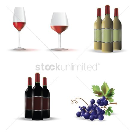Red wine : Assorted wine collection