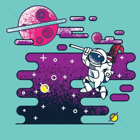 Moon : Astronaut in space