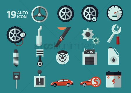 Car speedometer : Auto icons